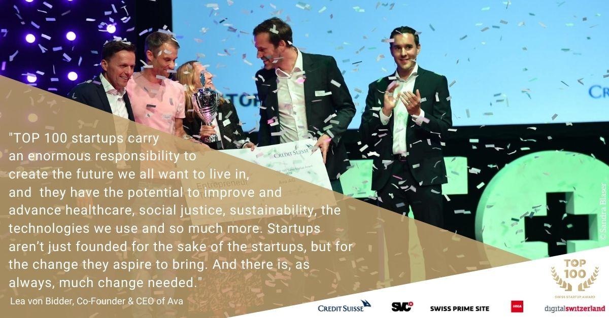 Celebrating 10 years TOP 100 Swiss Startup Award